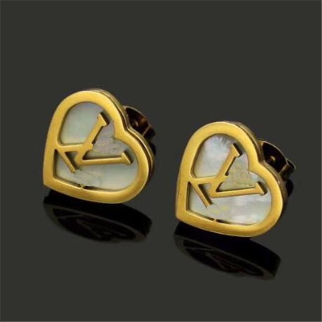 2020 Yeni sıcak satış Geliş Kalp Kulak Studs Paslanmaz Çelik Küpe Aşk Küpe İçin Kadınlar Düğün Toptan ücretsiz gönderim