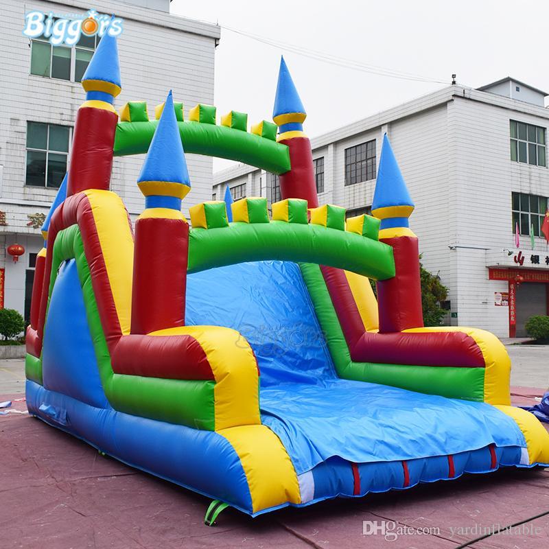 Barato preço fábrica PVC Tobogan Castelo Inflável Jumping Slide Slife Blow Up Slide Água Piscina Inflável