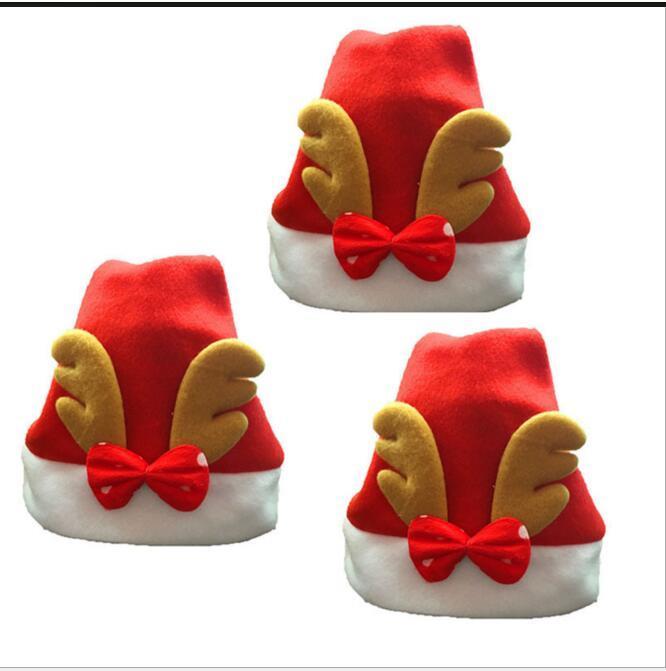 cappelli Eco Friendly della decorazione di Natale di alta qualità cappello di Natale cappello di Babbo Natale Bambini svegli Cosplay cappelli di Natale