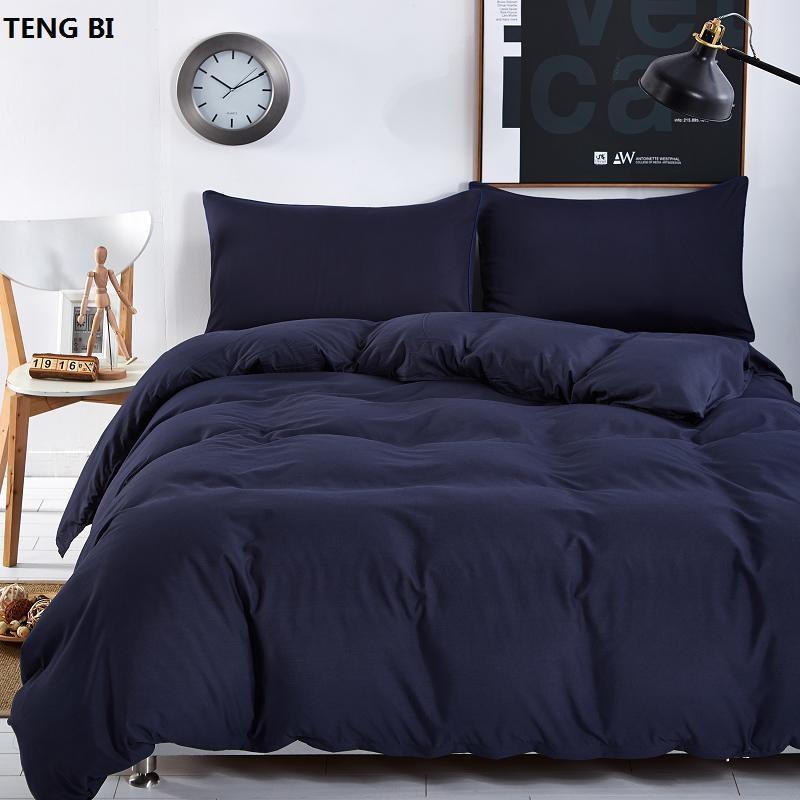 Новый дизайн, сплошной цвет дизайн, 3 4 комплекта постельных принадлежностей матрасы покрывало наборы плоская наволочка полная королева король супер Король размер
