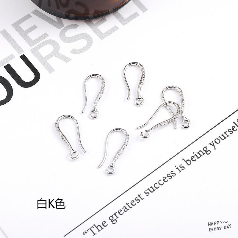 10 قطع جديد أزياء نمط معدن الذهب الروديوم الأذن هوك أقراط اكسسوارات للنساء diy صنع المجوهرات