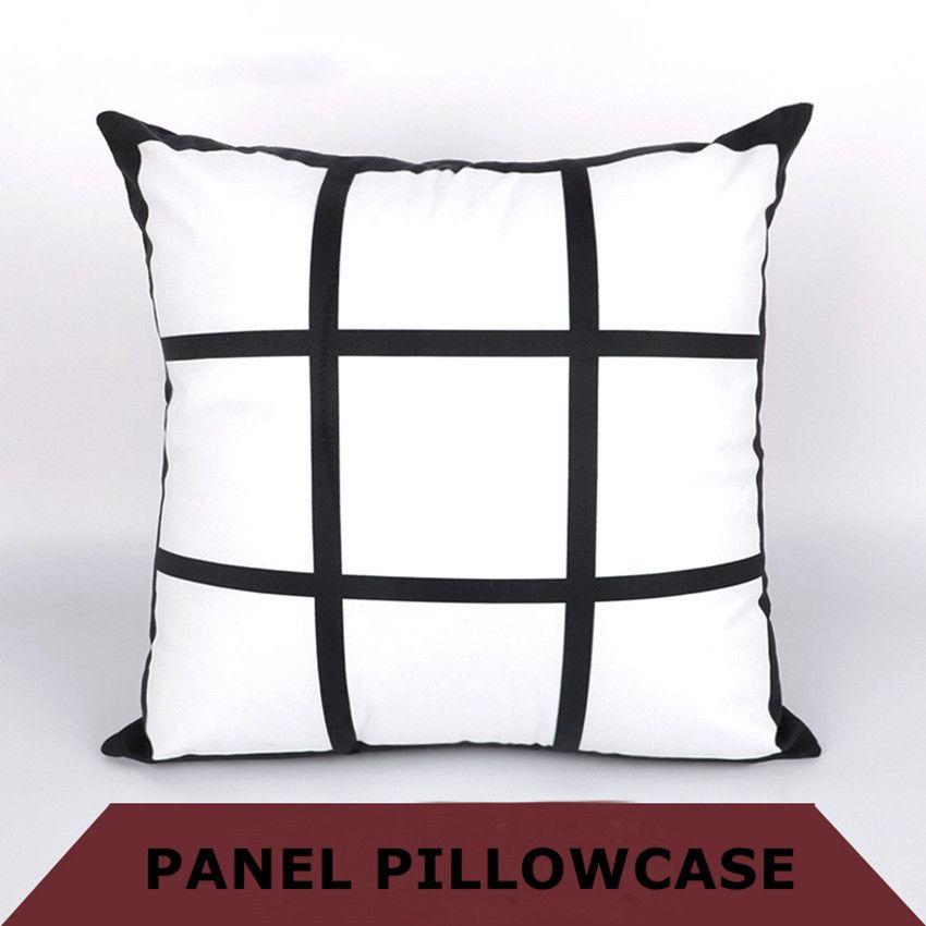 Bricolage Sublimation 9 taie grille 45cm * transfert de chaleur 45cm impression par transfert thermique vide pillowslip impression oreiller polyester cas A07