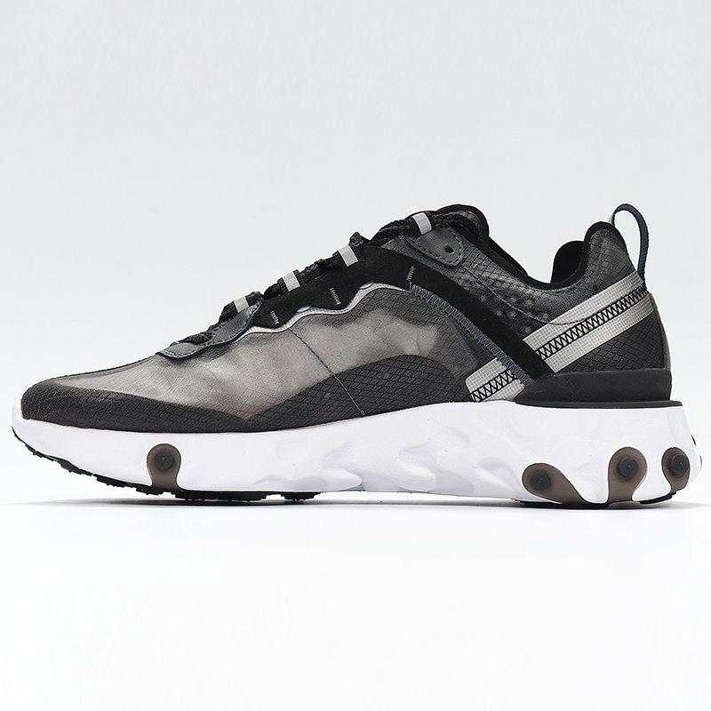 2020 React Element 87 55 Running shoes 다가오는 반응 요소 87 팩 화이트 스니커즈 브랜드 남성 여성 트레이너 남성 여성 디자이너 러닝 슈즈 Zapatos 2018 New