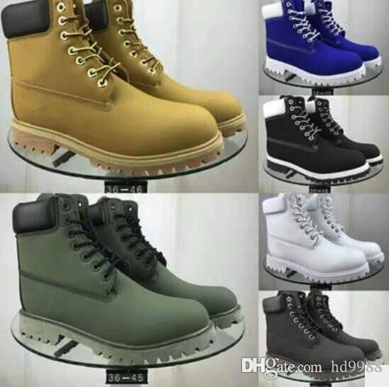 stivali di design di lusso per gli stivali da uomo invernali di alta qualità delle donne dimensione militare Triple Bianco Nero Camo 36-45