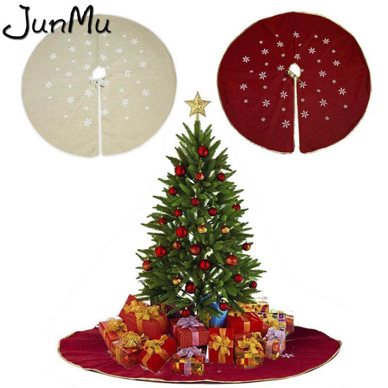 48inch arpillera del copo de nieve del árbol de navidad de la falda de las decoraciones de Navidad para el suministro índice de Navidad partido del acontecimiento falda del árbol