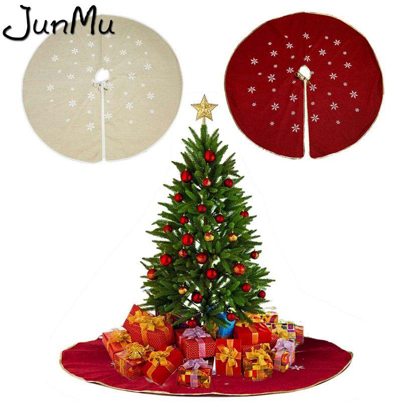 48inch Çuval bezi kar tanesi Noel ağacı Etek Noel Süsleri Ev Noel ağacı Etek Olay Parti Sarf Malzemesi