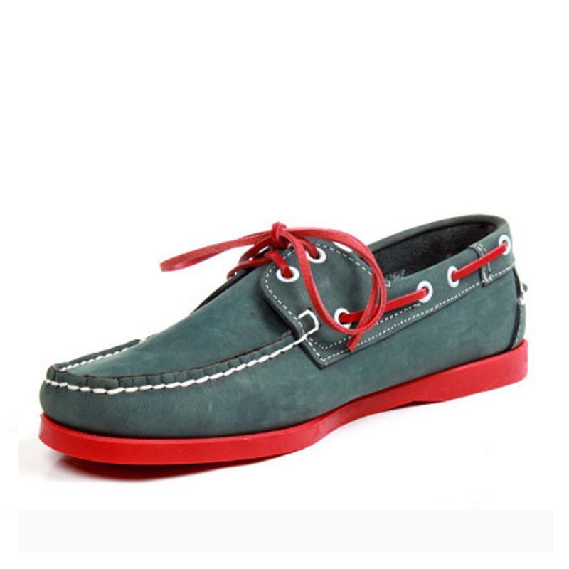 Mann-echtes Veloursleder Fahren Schuhe Docksides Classic Boat Shoe Wohnungen Loafers für Männer 8 # 23 / 20D50