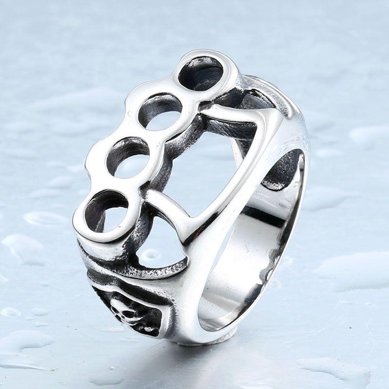 Бейер нового магазина нержавеющей стали 316L кольцо полированных верхнего качества ювелирного изделия Кулака череп панк мужчины кольцо LLBR8-027R