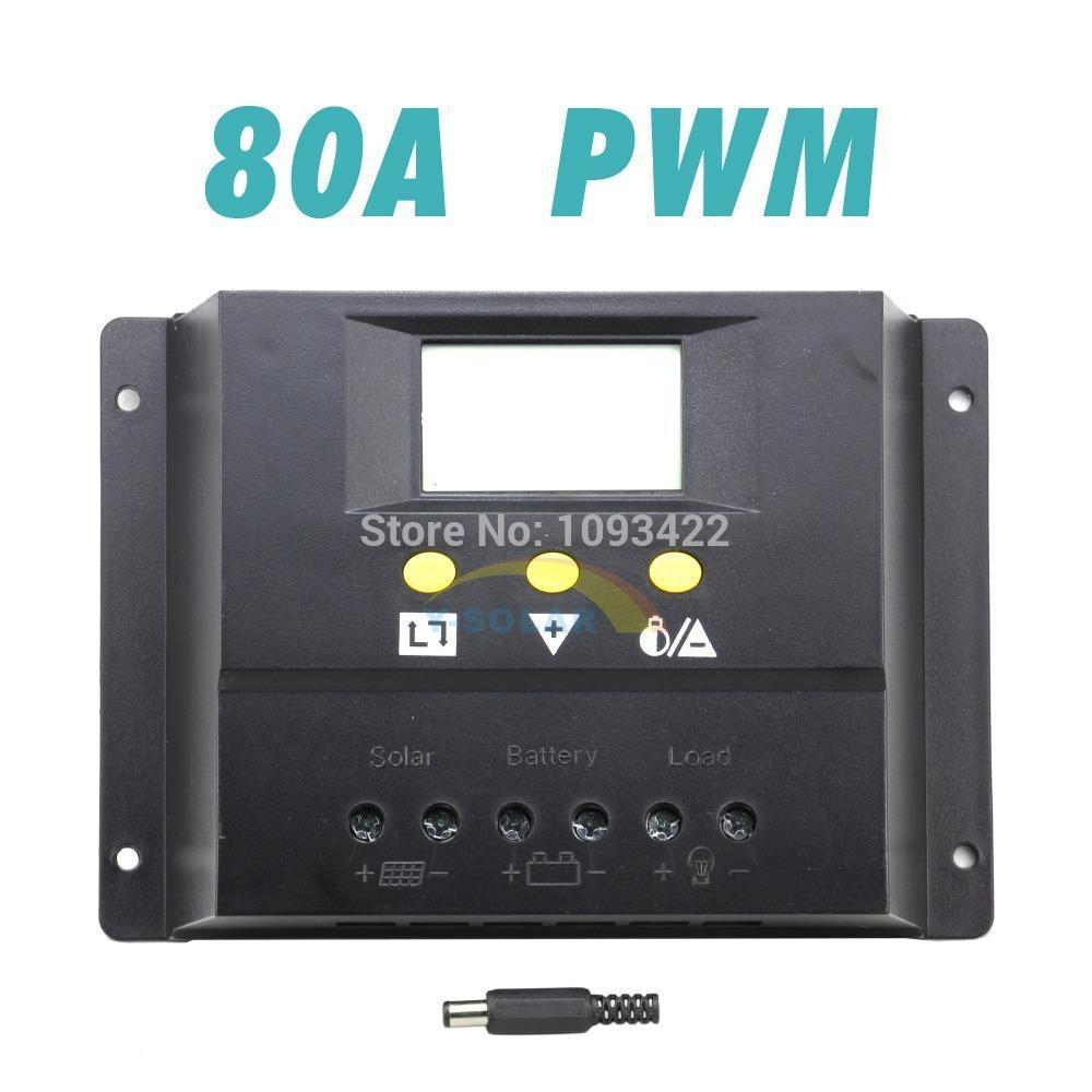 Freeshipping 80a الشمسية نظام تحكم 12 فولت 24 فولت lcd pwm الكهروضوئية شاحن مع ماكس 50 فولت 1920 واط لوحة ضوء الشمسية و الموقت تحكم Y-SOLAR 80I