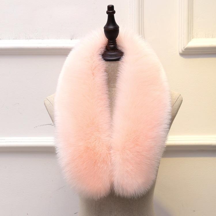Women winter scarf faux raccoon fur scarf brand jacket hood fur Collar decor shawl multicolor fake fur girl neckerchief men YT01 D19011004