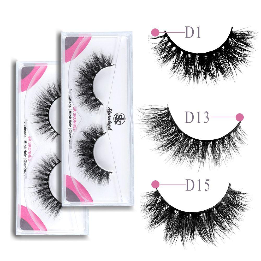 Natural 3D Mink Hair False Eyelashes Handmade Thick Long Full Volume Fake Eye Lashes Extension Makeup Tools 12 Styles