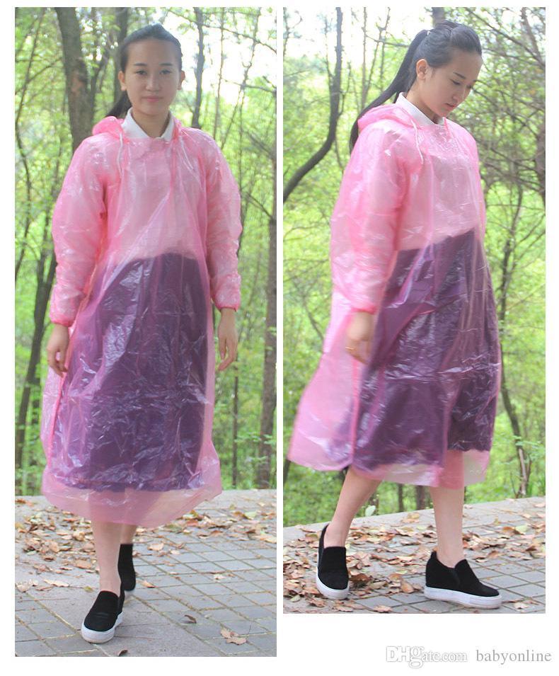 일회용 비옷 성인 비상 방수 후드 판쵸 여행 캠핑 코트 남여 한 시간 비상 비옷의 FY4027을 비해야