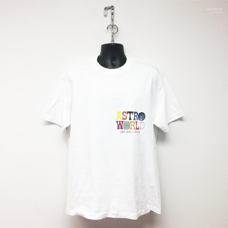 Lettre T-shirts Imprimer la Terre Logo Homme Vêtements ras du cou à manches courtes T-shirts Travis Scott Astroworld Hommes d'été Designer