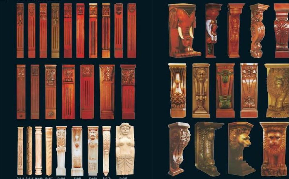 The latest new European F-063 exquisitely decorated Roman column wood carving wood crafts accessories stigma support custom any style and si