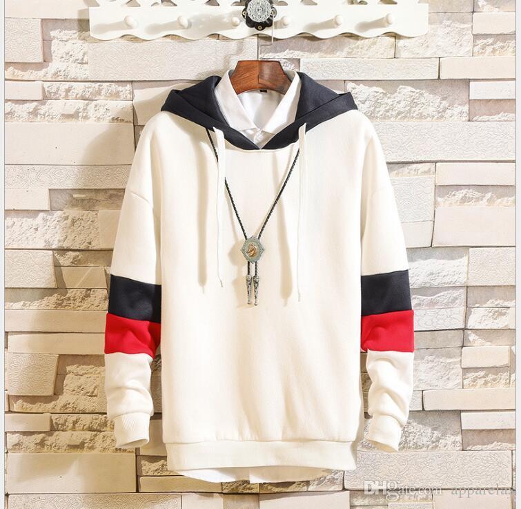 Yeni Avrupa ve Amerikan tarzı spor erkek kazak polar terry cap hoodie ceket