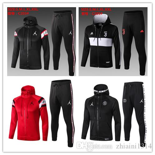 2019 20 New adult Psg XJordam tracksuit 19 20 psg soccer jogging jacket MBAPPE POGBA men football training suit