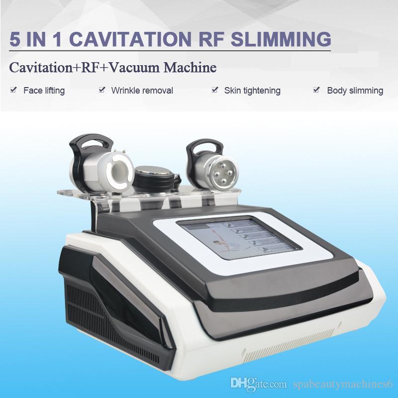 5 в 1 ультразвуковая кавитация липосакции многополярный RF двухполярный RF био кожа стороны поднимаясь сильное тело кавитации вакуума уменьшая машину
