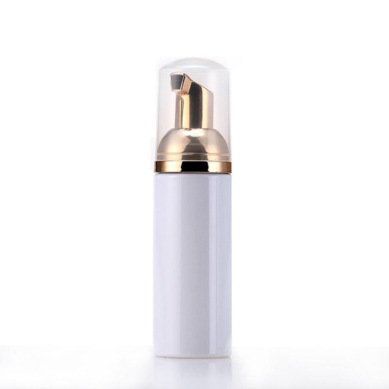 زجاجات 50ML السفر رغوي فارغة زجاجات البلاستيك رغوة مع مضخة الذهب غسل اليد الصابون موس كريم موزع محتدما زجاجة BPA الحرة في الأوراق المالية