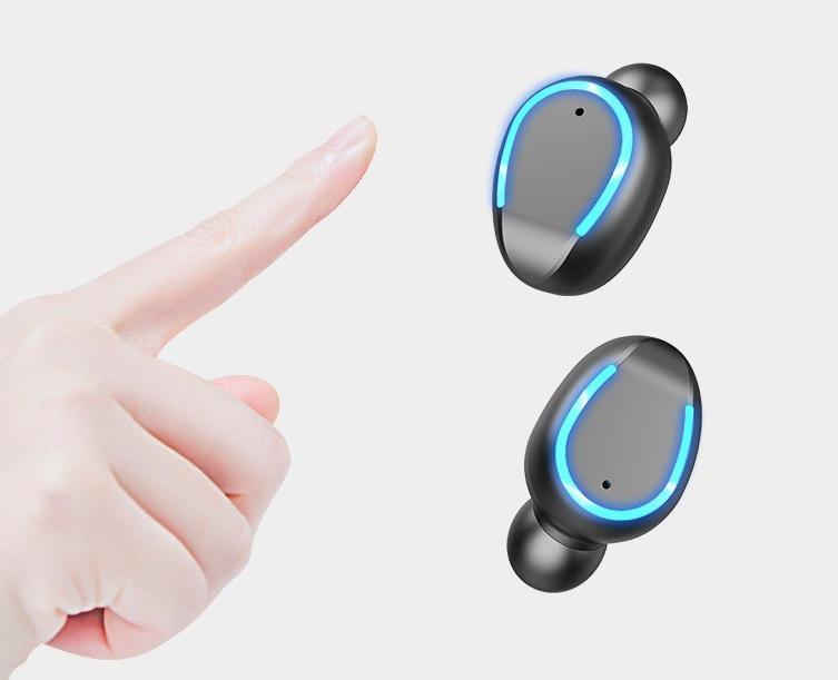 2200mAh LED Bluetooth Беспроводные наушники Наушники Наушники TWS сенсорное управление спортивная гарнитура Шумоподавление Наушники Наушники