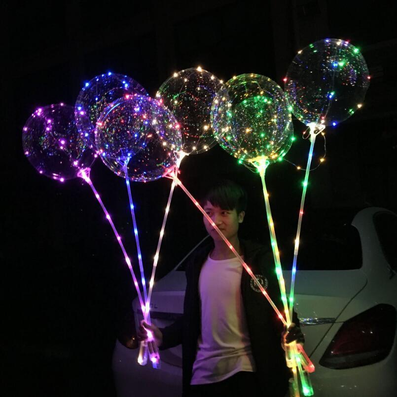 LED Aydınlık LED Balon Şeffaf Yuvarlak Kabarcık Dekorasyon Doğum Günü Partisi Düğün Dekor Globos Noel Hediyesi LED Işık Balloont