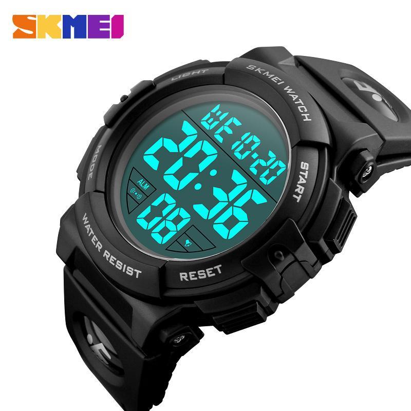 оптовые Мода Открытый Спортивные часы Мужчины Многофункциональный водонепроницаемый 5бар Военные цифровые наручные часы Relogio 1258 Мужчина для
