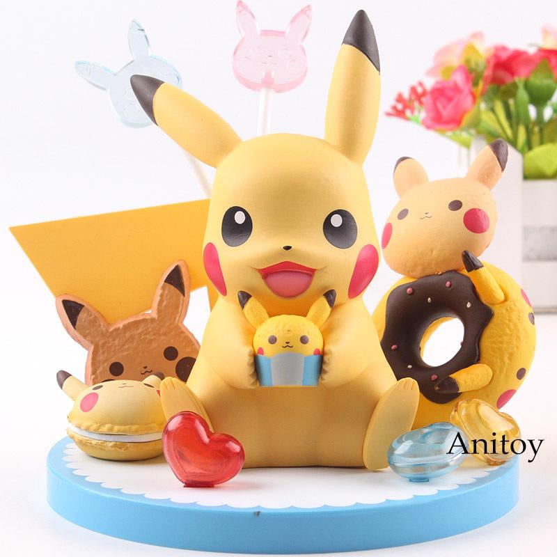 Tea Party Figura Banpresto con la magdalena buñuelo del azúcar lindo acciones muñeca de PVC figura colección Modelo regalo de los juguetes de los niños T200321