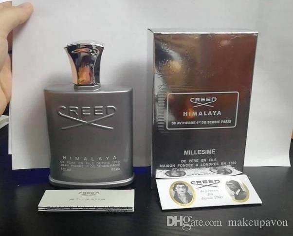 Dropshipping perfume New Creed Himalaia para 120ml homens colônia com o tempo de longa duração alta qualidade cheiro bom