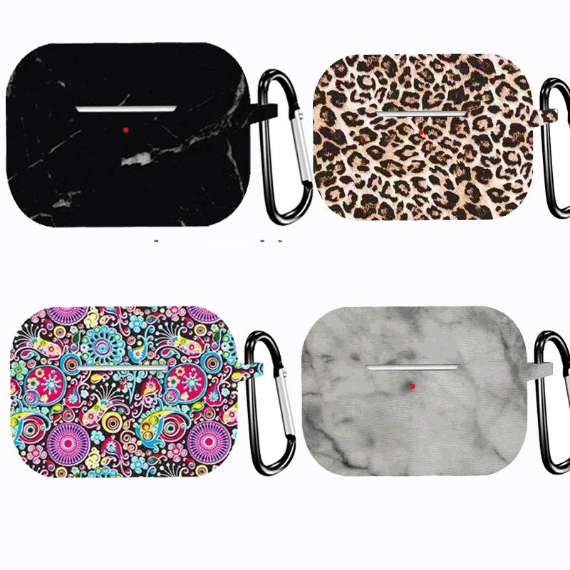 For Airpods Pro Headphone Silicone Case Airpods 3rd Generation Headphone Case Printed Marble Pattern for Airpods case cover 319 colors