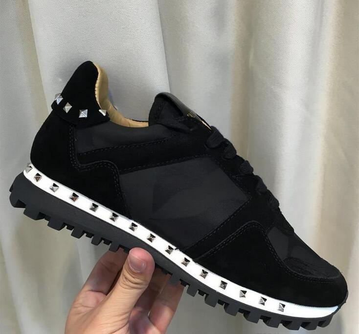Großhandelsmarken-Rock-Runner verzierte Turnschuh-Schuhe für Frauen, Männer Rock-Runner-Tarnung beiläufige Gehen Camustars Gehen Felsen Studs Sport
