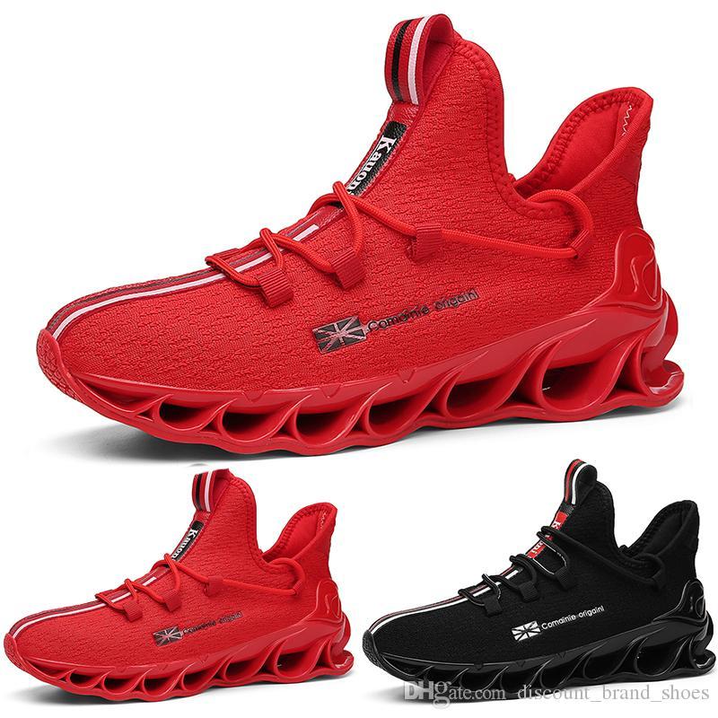 2020 Venda legal bem adaptado Style4 preto branco vermelho colorido almofada jovem menino dos homens Running Shoes formadores baixos corte Designer Sports Sneaker