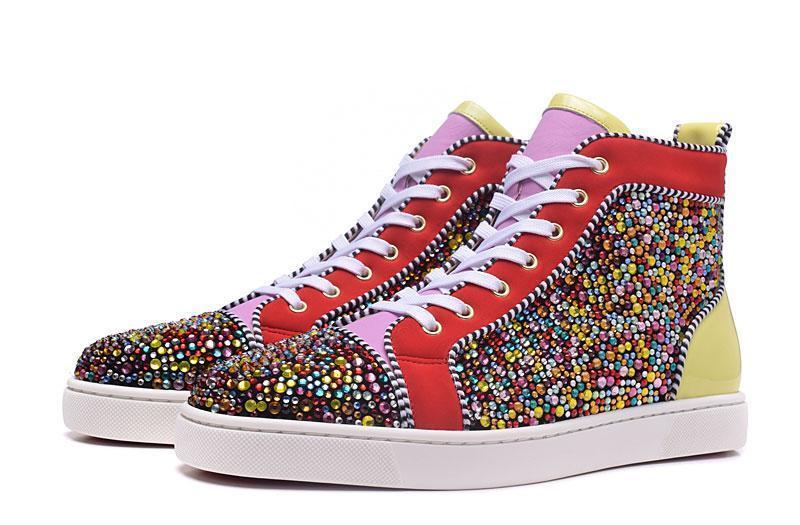 Christian Louboutin CL Red Runner Donna Hommes Femmes Sneaker mode Luxe Paris Designer Nouveau Rouge Sneaker Bas Chaussures Casual D05