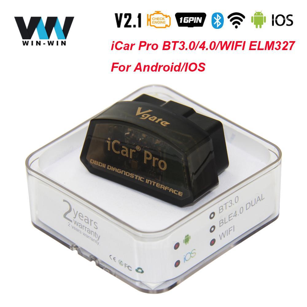 Vgate iCar Pro ELM 327 V2.1 OBD2 Bluetooth 4.0 WIFI Scanner ELM327 V2.1 ODB2 For Android/ OBD 2 OBD2 Car Diagnostic Auto Tool
