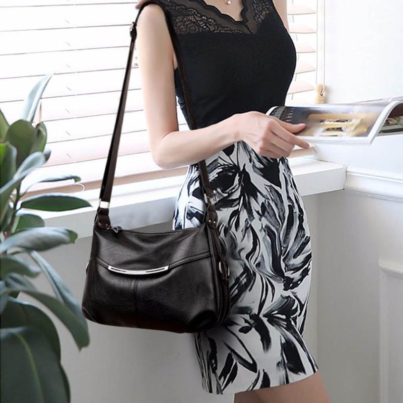 Женщины курьерские сумки для женщин наплечные сумки Crossbody черный клатч кошелек и сумочка Дикий большой емкости наплечная сумка#328