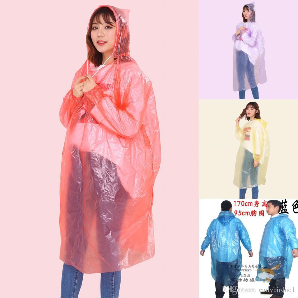 24H, DHL SHIPPING, à usage unique Raincoat adulte d'urgence Poncho Camping Voyage étanche doit Imperméable un temps d'urgence Rainwear FY4027