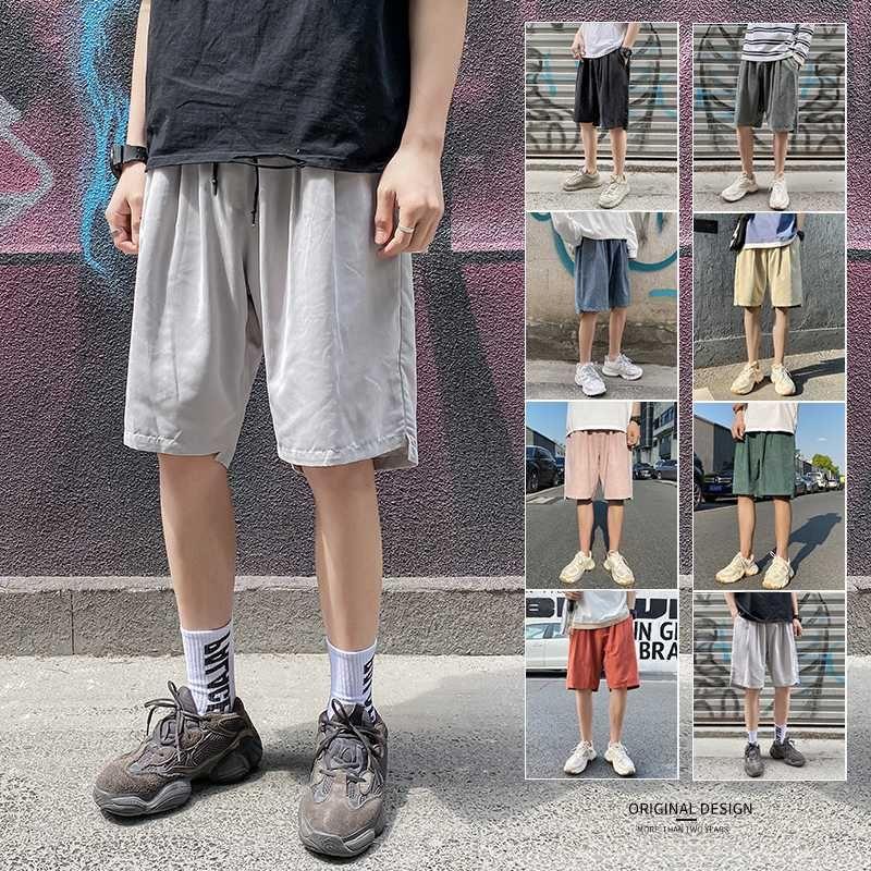 Men Shorts Summer 2020 New Solid Color Cotton Sweatpants Fitness Casual Drawstring Short Pants High Quality Mens Sports Shorts