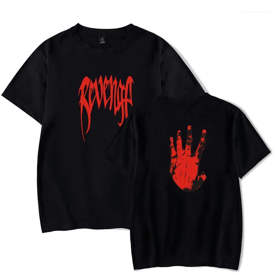 XXXTENTACION maglietta del T del cotone del Mens maglietta Estate Maniche corte traspirante Mani REVENGE