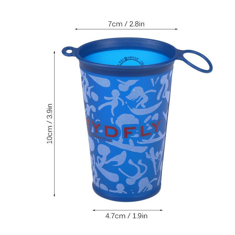 2 PCS Outdoor-Sportflasche Sports Cup 200ml faltbares weiches Wasser-Flasche für Outdoor Wandern Radfahren Camping Lauf