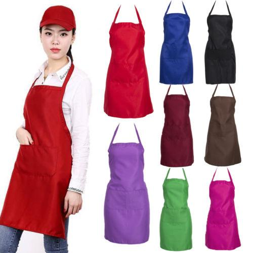 Einstellbarer Latzschürze Kleid Männer Frauen Küche Restaurant Chef klassischer Multifunktionskoch Lätzchen Reinigung Schürze
