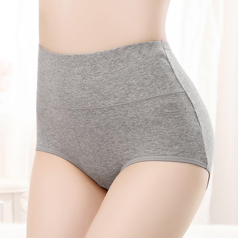 Pure cotton high-waist underwear, high-waist belly-up and hip-lift underwear, ladies'pure cotton high-waist underwear T200420