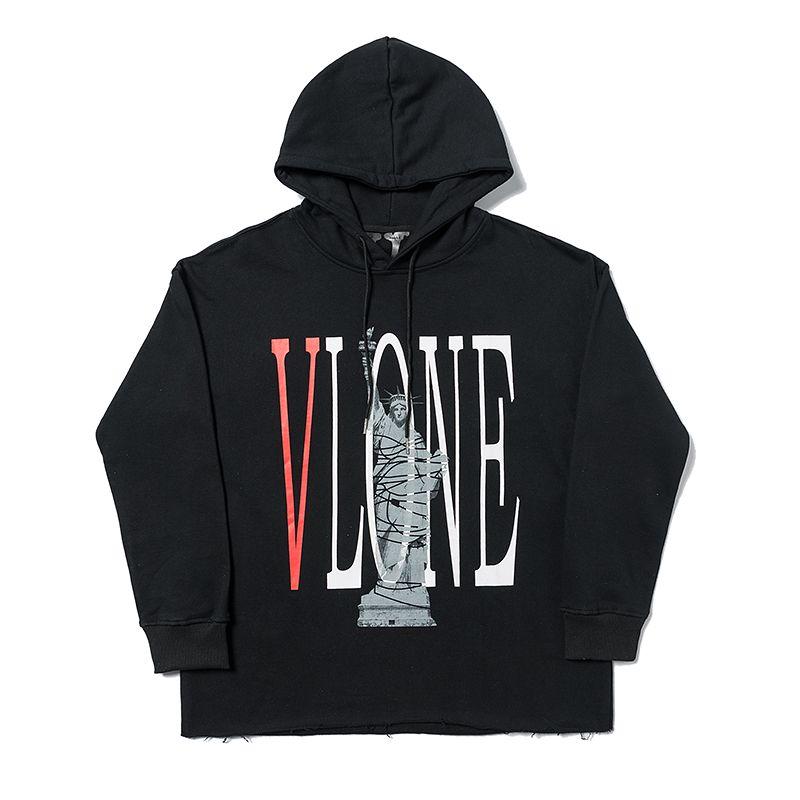 Vlone Mode Hommes à capuche pour hommes de haute qualité Lettre Imprimer Sweat à capuche célèbre marque Hommes Femmes Adolescent Sweat-shirt confortable