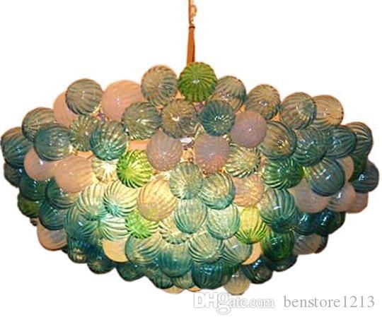 노르딕 핸드 블로운 유리 펜던트 램프 LED 거실 식당 계단 홈 인테리어 아트 장식 램프 실내 조명 샹들리에 매달려 조명