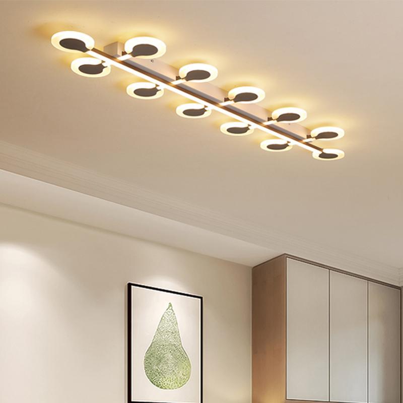 Creativa nórdica llevó luces de techo lámpara de techo de iluminación de alta gama para la sala decoración dormitorio nórdico artefactos de iluminación en casa