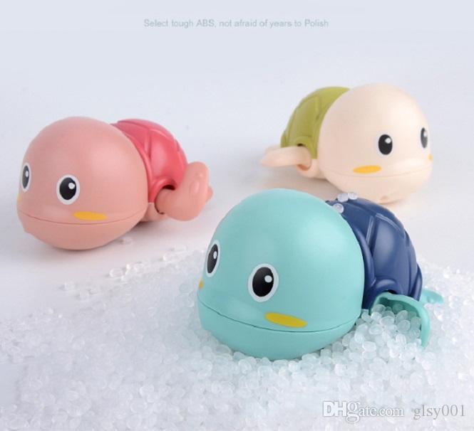 Tortuga Swim infantil al por mayor animal linda de la tortuga de agua de juguete de bebé clásico de la herida en marcha la cadena de relojería para niños baño de la playa Juguetes