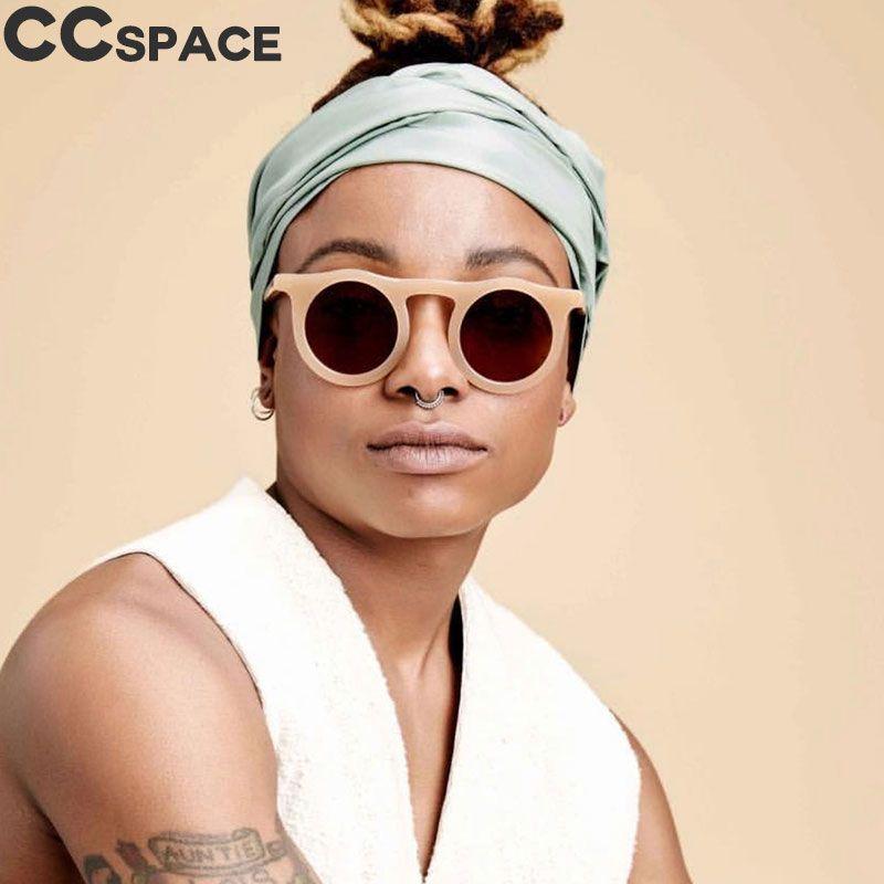 45588 Retro Yuvarlak Güneş Erkekler Kadınlar Kedi Göz Shades CCSPACE Vintage 2018 Marka Gözlük Moda óculos UV400