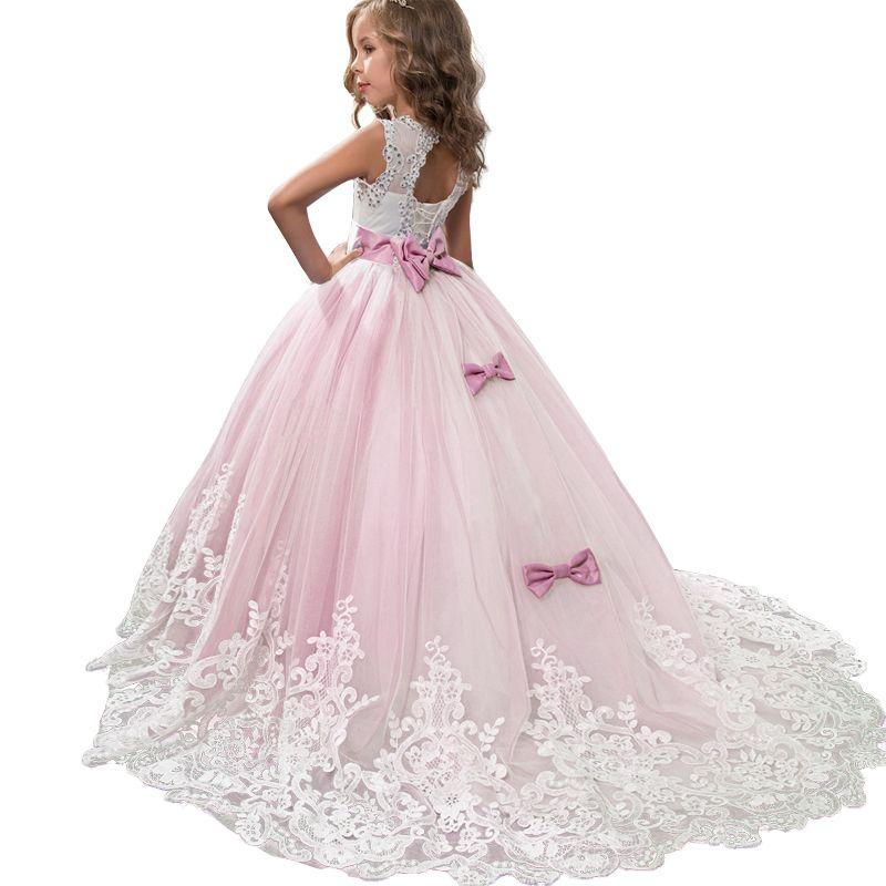 2019 Vestito da estate delle ragazze Adolescente Abiti da damigella d'onore Per le ragazze Abbigliamento Vestito da principessa Abito da sposa 3 14 10 12 anni