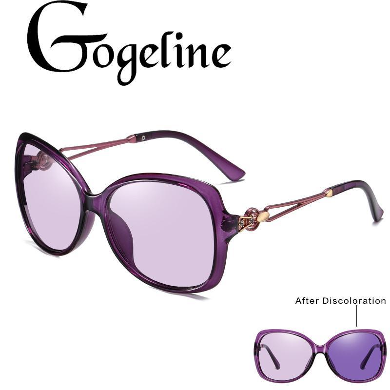 Kadınların moda kare güneş gözlüğü için 2020 Sürüş Fotokromik Güneş Kadınlar Polarize Bukalemun Renksizleşmeye Güneş gözlüğü
