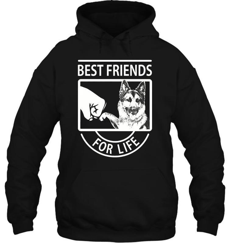 Мужчины Толстовка Забавный белый черный тройник Немецкая овчарка Лучшие друзья для жизни мужчин в женщин Streetwear