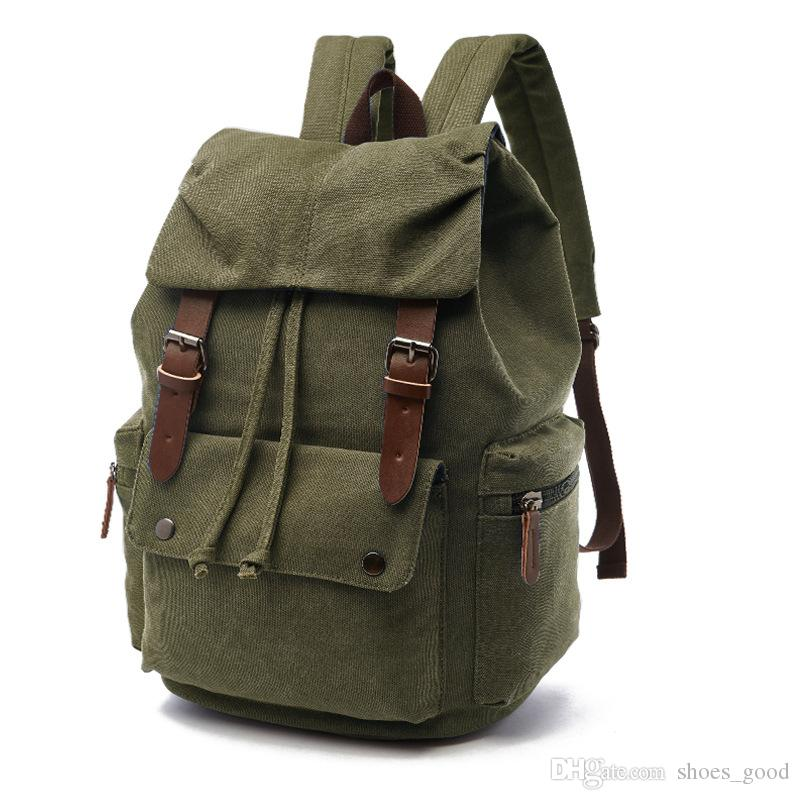 Fashion Trend Style Students Backpacks Laptop Korean Version Multi Functions Schoolbags made of Canvas with High Quality Unisex Travel Bags