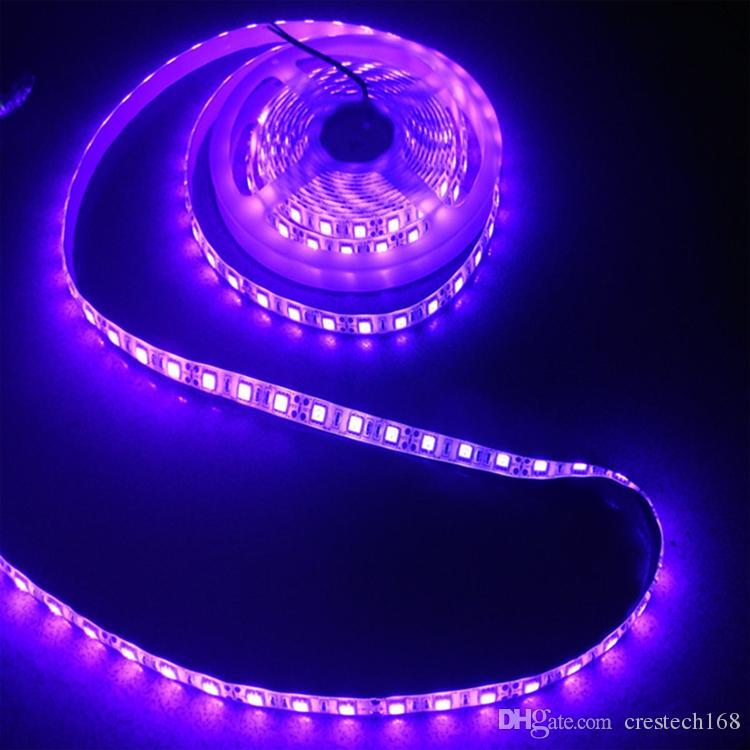Striscia CRESTECH luce UVA LED 1 del tester 60leds luce IP65 striscia impermeabile con 12V DC Power Supply per la fase, Notte Fishing.etc.
