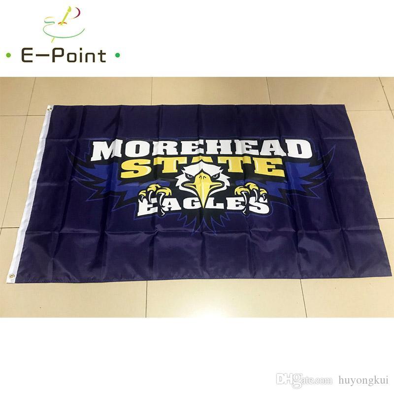 Polyester-Flagge 3ft * 5ft (150cm * 90cm) NCAA Morehead State Eagles Flaggen-Fahnendekoration, die Geschenke des Hausgartens im Freien fliegt